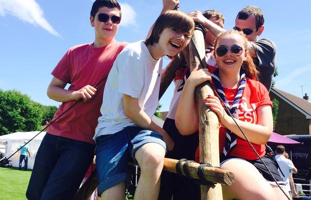Just a group of Explorer Scouts