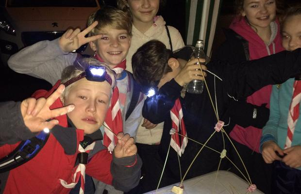Keyingham Scouts at Checkpoint 1