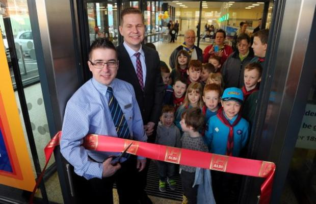 St Martins help with the Opening of New Aldi Store